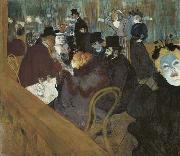 Self portrait in the crowd, at the Moulin Rouge Henri de toulouse-lautrec